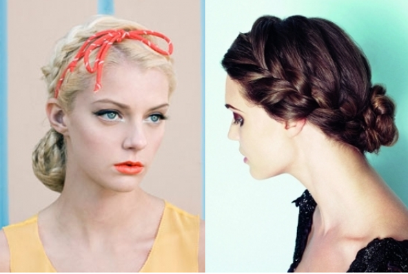Goddess Braids Updo Hairstyles