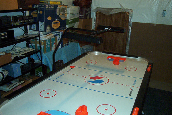 I Remember Our Huge Air Hockey Table As Being A Perfect Place To Play Under With My Dolls And Blanket That Is Until Brothers Turned The Beast On