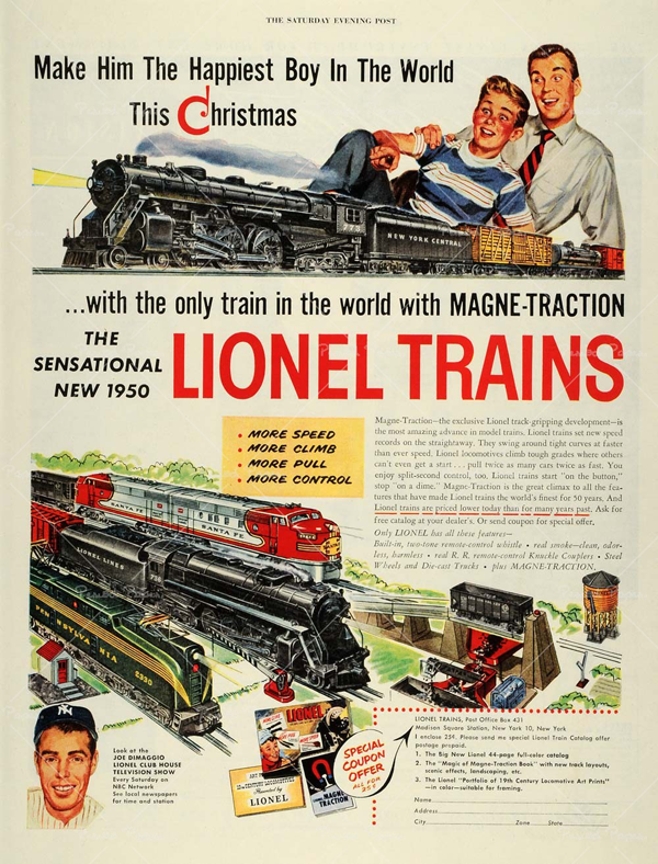 vintage holiday flashback lionel trains � modern kiddo