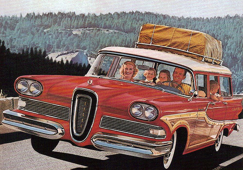 I love the ads the most! Every family had one! And the wood was replaced  with steel although of course faux wood paneling was still popular for many  years. - Vintage Road Trip:: Station Wagons. €� Modern Kiddo