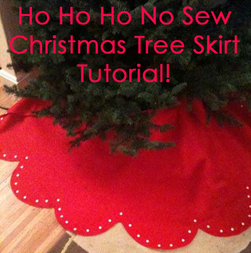 Merry Craftmas!!! How To Make a No Sew Christmas Tree Skirt ...